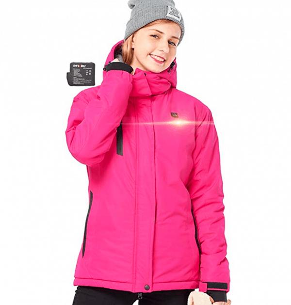 abrigo con calefaccion